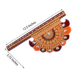 Wooden Decorative Pankhi Wall Hanging - EC-HJRME24MA285
