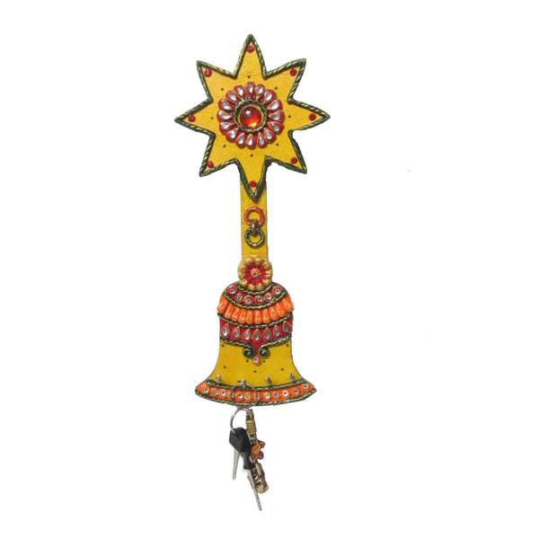 Paper Mache Bell Key Holder-EC-KKPMB10M32