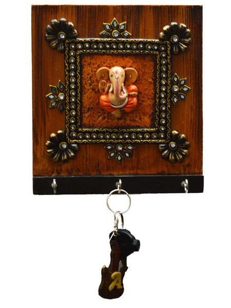 Kundan Lord Ganesha Key Holder-EC-KKPMB1SP97
