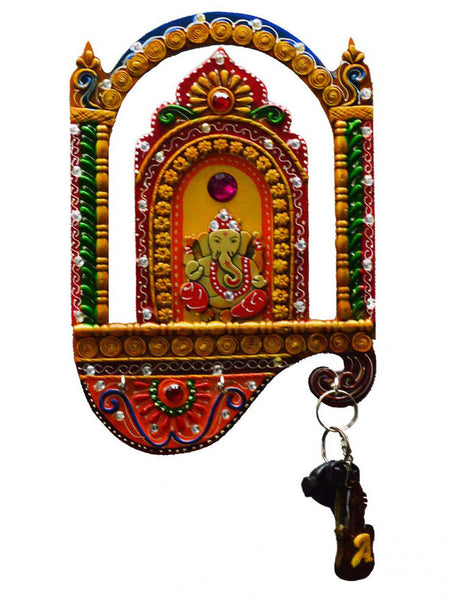 Kundan Lord Ganesha Key Holder-EC-KKPMB1SP101