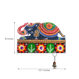 Decorative Elephant Papier-Mache Wooden Keyholder - EC-HJRME24MA312