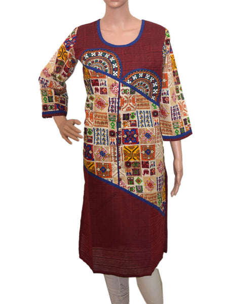 Cotton Kurti From Gujarat In Multicolor - KBPKGK5JL4