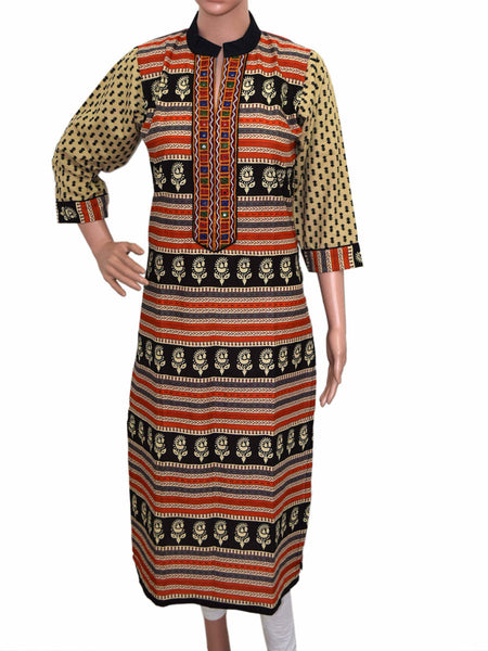 Cotton Kurti From Gujarat In Multicolor - KBPKGK5JL23
