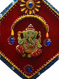 Paper Mache Lord Ganesha Jewelled Wall Hanging-EC-KKPMB1SP132