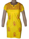 Kurti With Chikan Work In Gold Yellow-APLUK28JL52