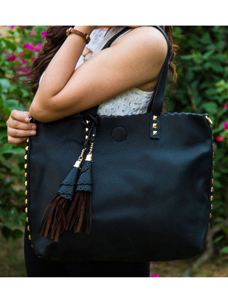 Tote Bag From Delhi In Black - AE-CDBT18JL1