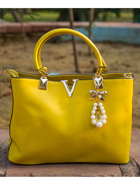 Tote Bag From Delhi In Yellow - AE-CDBT18JL31