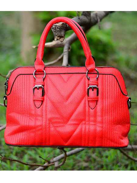 Tote Bag From Delhi In Red - AE-CDBT18JL49