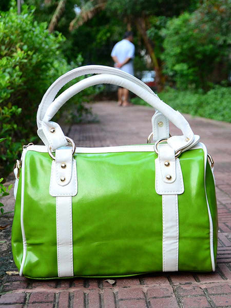 Tote Bag From Delhi In Green - AE-CDBT18JL86