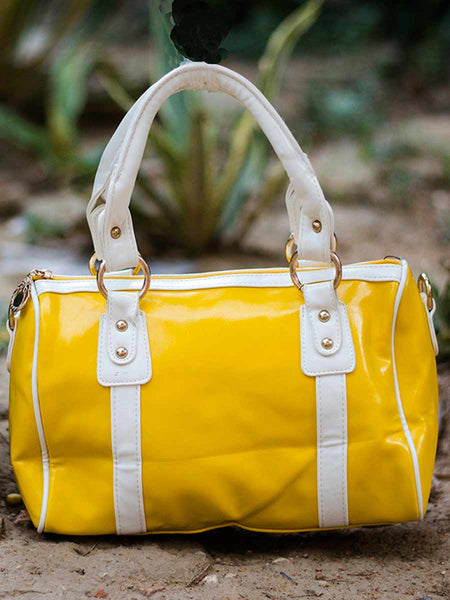 Tote Bag From Delhi In Yellow - AE-CDBT18JL9
