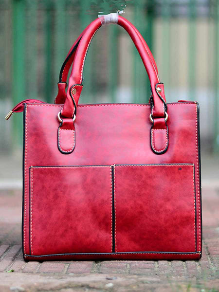 Tote Bag From Delhi In Red - AE-CDBT18JL102