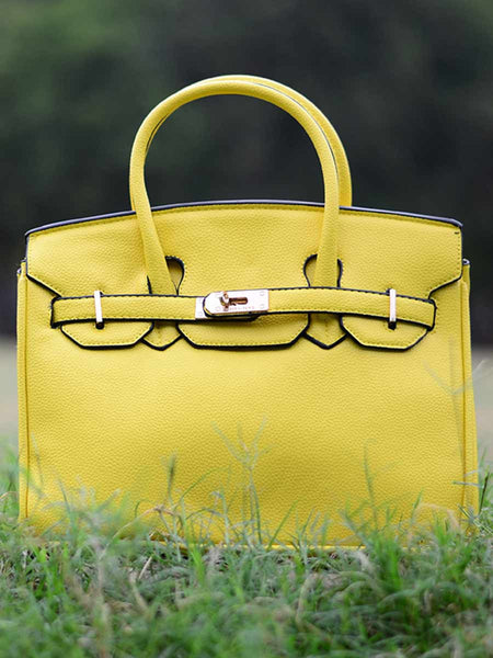 Tote Bag From Delhi In Yellow - AE-CDBT18JL114