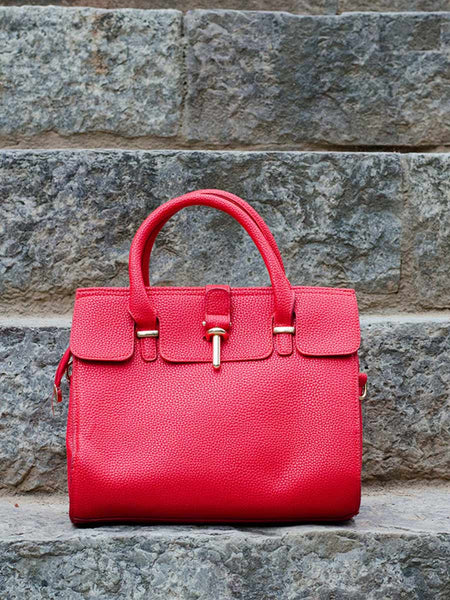 Tote Bag From Delhi In Red - AE-CDBT18JL116
