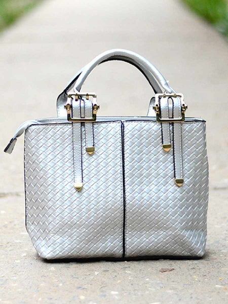 Tote Bag From Delhi In Silver - AE-CDBT18JL130