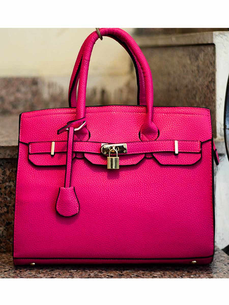 Tote Bag From Delhi In Pink - AE-CDBT18JL141