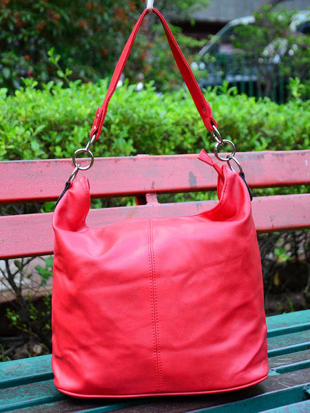 Tote Bag From Delhi In Red - AE-CDBT18JL164