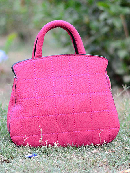Tote Bag From Delhi In Pink - AE-CDBT18JL173