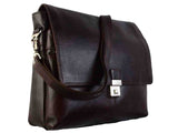 Long Brown Kanpur Leather Laptop Bag-CKLB14