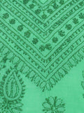 Cotton Embroidered Chikankari Suit In Green -  M1-PLUS15FB3