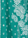 Green Colour Georgette Chikankari Saree - OM1-PLUSA15FB2