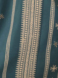 Kutch Embroidered Shawl From Gujarat In Prussian Blue - MCKGS16FBY5