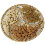 Marble Gold Colored Dry Fruit Plate-EC-HJRME8M18