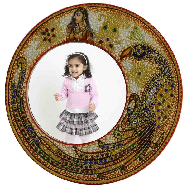 Marble Round Photo Frame-EC-HJRME5MY7