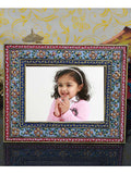 Crystal Floral Painted Marble Photo Frame-EC-HJRWME1SP80