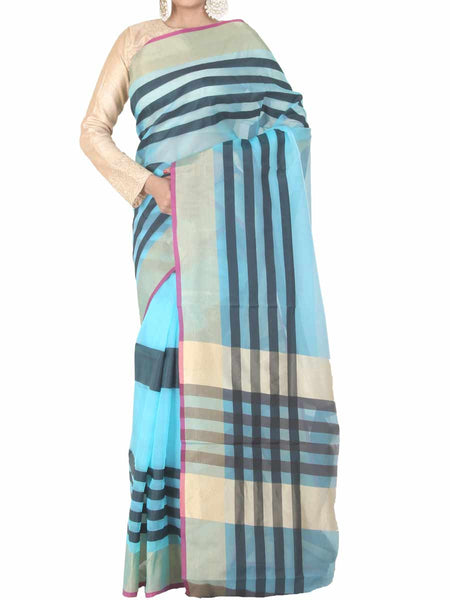 Banarasi Saree In Light Blue - S1-PBUSA4AG19