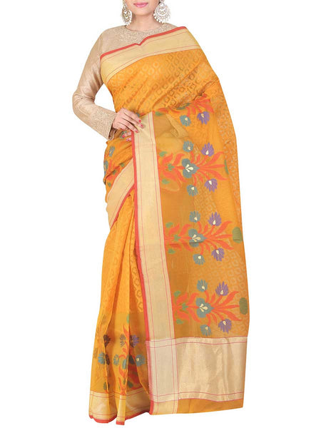 Banarasi Saree In Gold - S1-PBUSA11JL39