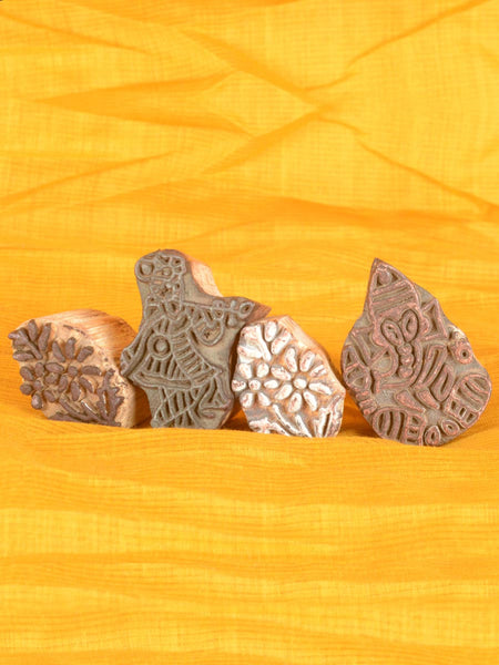 Wooden Blocks From Jodhpur  (Set of 4) -  MR-RJB9JN42