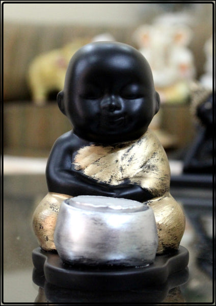 Buddha Monk Tea Light Holder Decorative - EC-HJRME24MA387