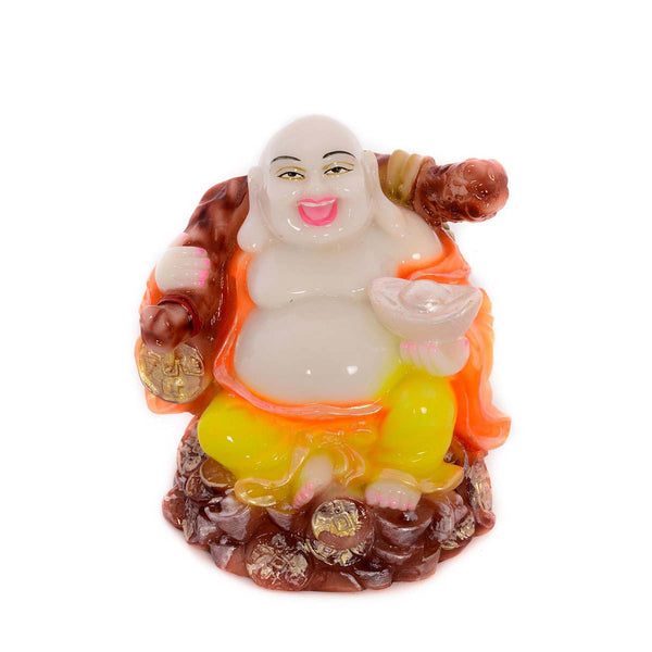 Feng Shui Laughing Buddha with Coin Bag in Right Hand - EC-HJRPY3AG263