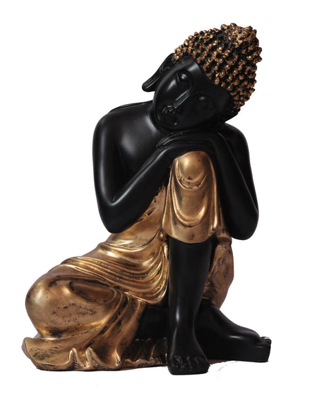 Handcrafted Lord Buddha Resting on Knee - EC-HJRME24MA382