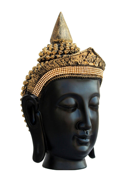 Golden Crown Handcrafted Buddha Head - EC-HJRME24MA377