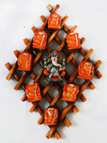 Wooden Wall Handing With 9 Variants Of Lord Ganesha-EC-HJRWE1SP71