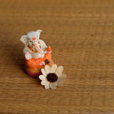 Crystal Studded Divine Orange Dhoti Lord Ganesha Polyresin Figurine - EC-HJRME24MA326