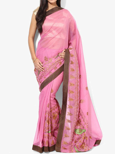 Banarasi Saree In Pink - RB-BPBUSA11JL376