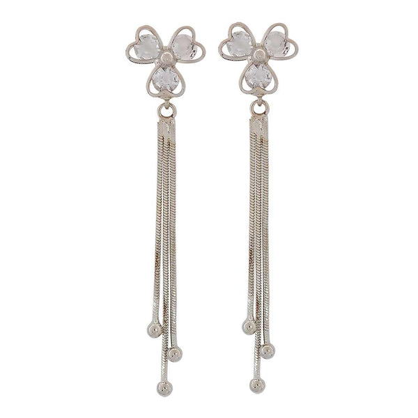 Suave Silver Designer Party Tassel Earrings - MCHUJE1OT233