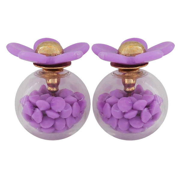Sexy Purple Designer Party Glass Stud Earring - MCHUJE1OT236