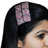 Dashing Red Black Designer Hair Clip - MCHCL6AG133