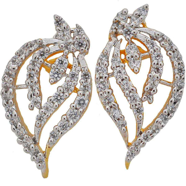 Dashing Gold American Diamond Drop Earrings - MCHUJE17JL79