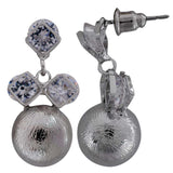 Sizzling Silver Designer Drop Earrings - MCHUJE20AG87