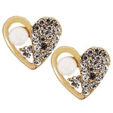 Stunning White Gold Crystal Work Stud Earrings - MCHUJE20AG149