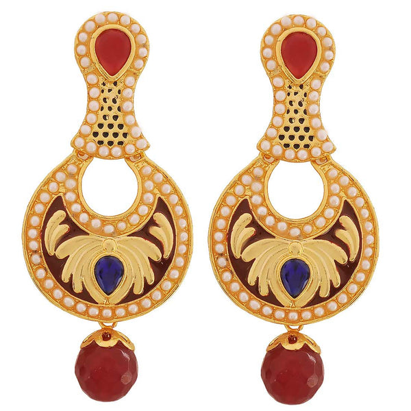 Antique Indian Jewelry Lively Designer Drop Earrings Red Blue by  - MCHUJE9SP61