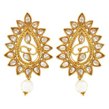 Indian Traditional Jewelry Sexy Kundan Drop Earrings White Gold by  - MCHUJE9SP167