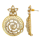 Antique Indian Jewelry Awesome Stone Work Drop Earrings Gold  by  - MCHUJE9SP175