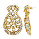 Bollywood Indian Jewelry Cute Stone Work Drop Earrings Gold  by  - MCHUJE9SP176