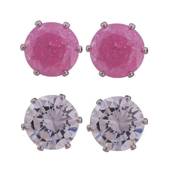 Classy Purple American Diamond Stud Earrings - MCHUJE27OT322