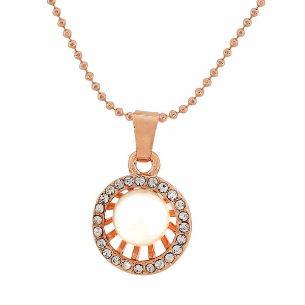 Sizzling White Gold Pearl Pendant without Earrings - MCHUJP27OT395